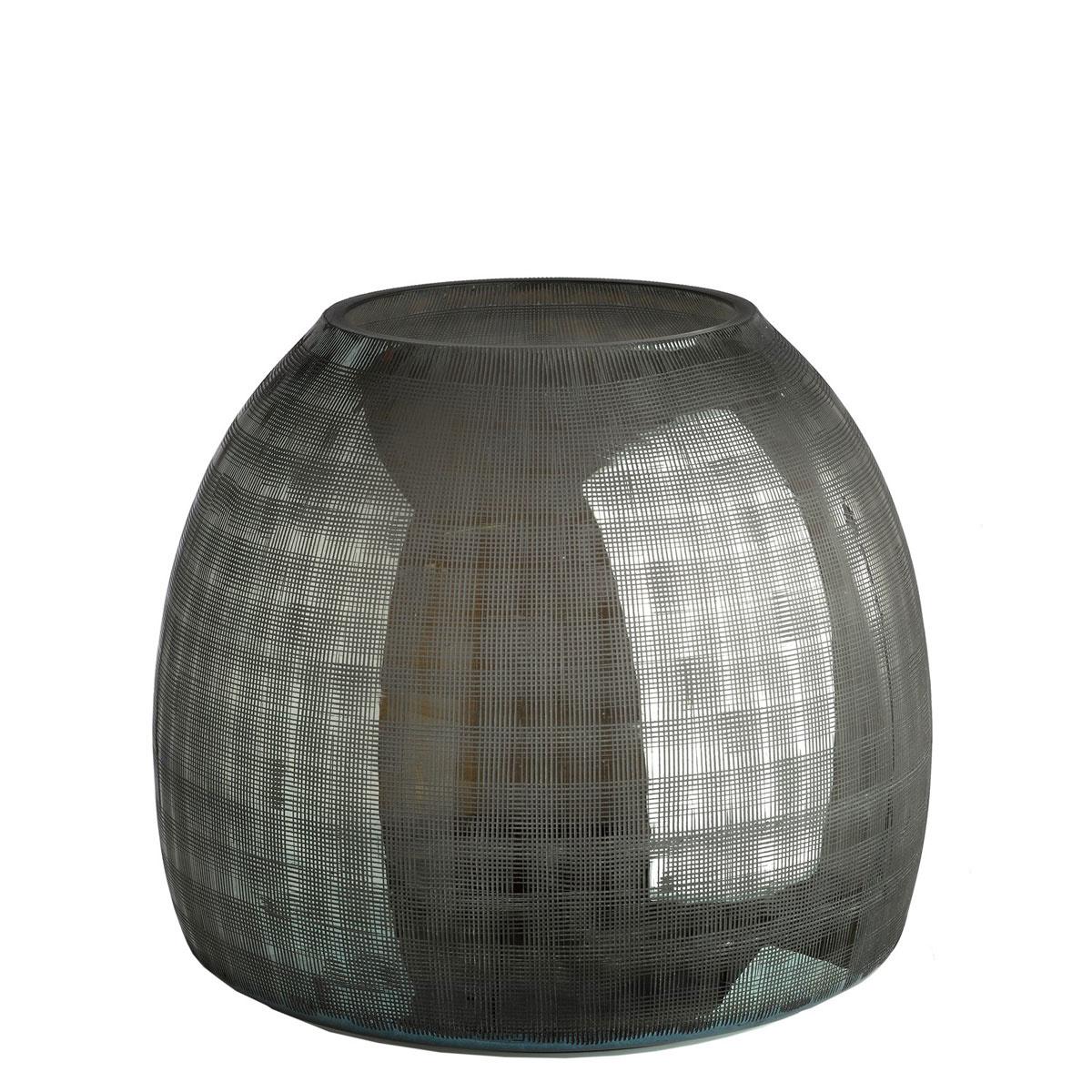 Vase kariertes Grau