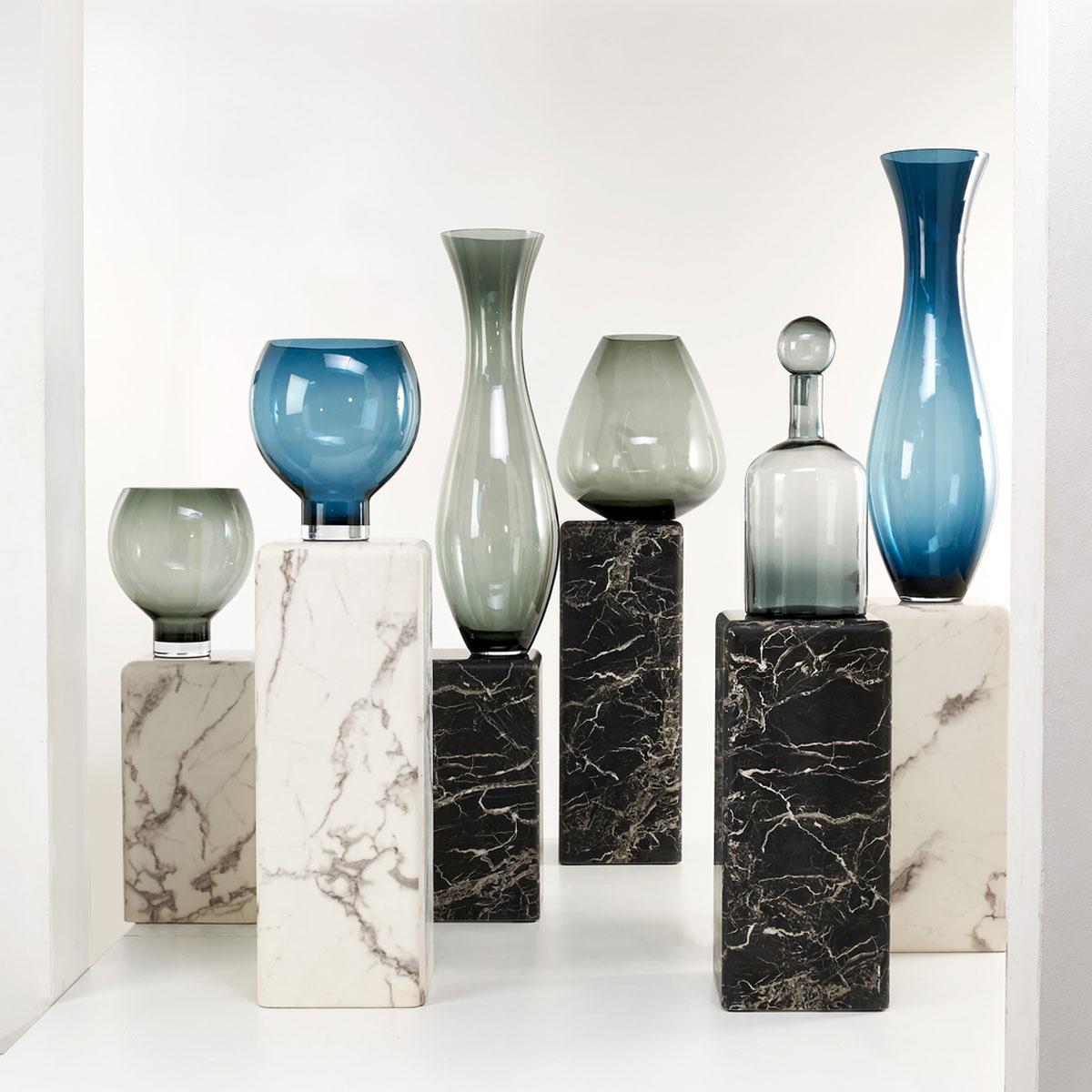 Vase Coupeball blue