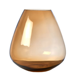Pols Potten Vaas Wiskey glass amber