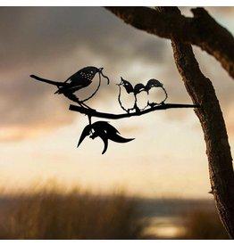 Metalbird Blue Wren with Babies