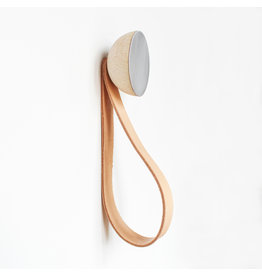 5mm Paper Aluminum wall hook with leather loop set / 2