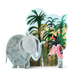 Studio ROOF Pop-out card Jungle elephant