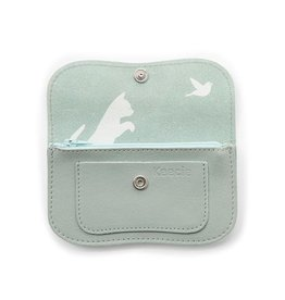 Keecie Purse Cat Chase Small Dusty Green