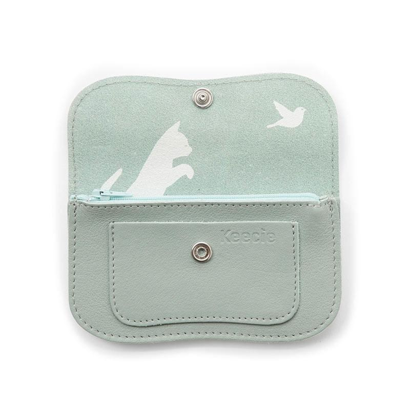 Purse Cat Chase Small Dusty Green