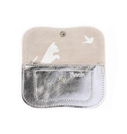 Keecie Portemonnee Cat Chase Small Silver