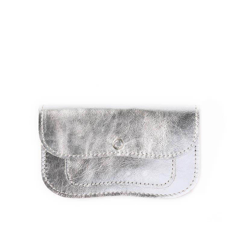 Purse Cat Chase Small Silver