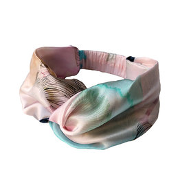 Marloekaki  Silk twisted Headband Light Salmon