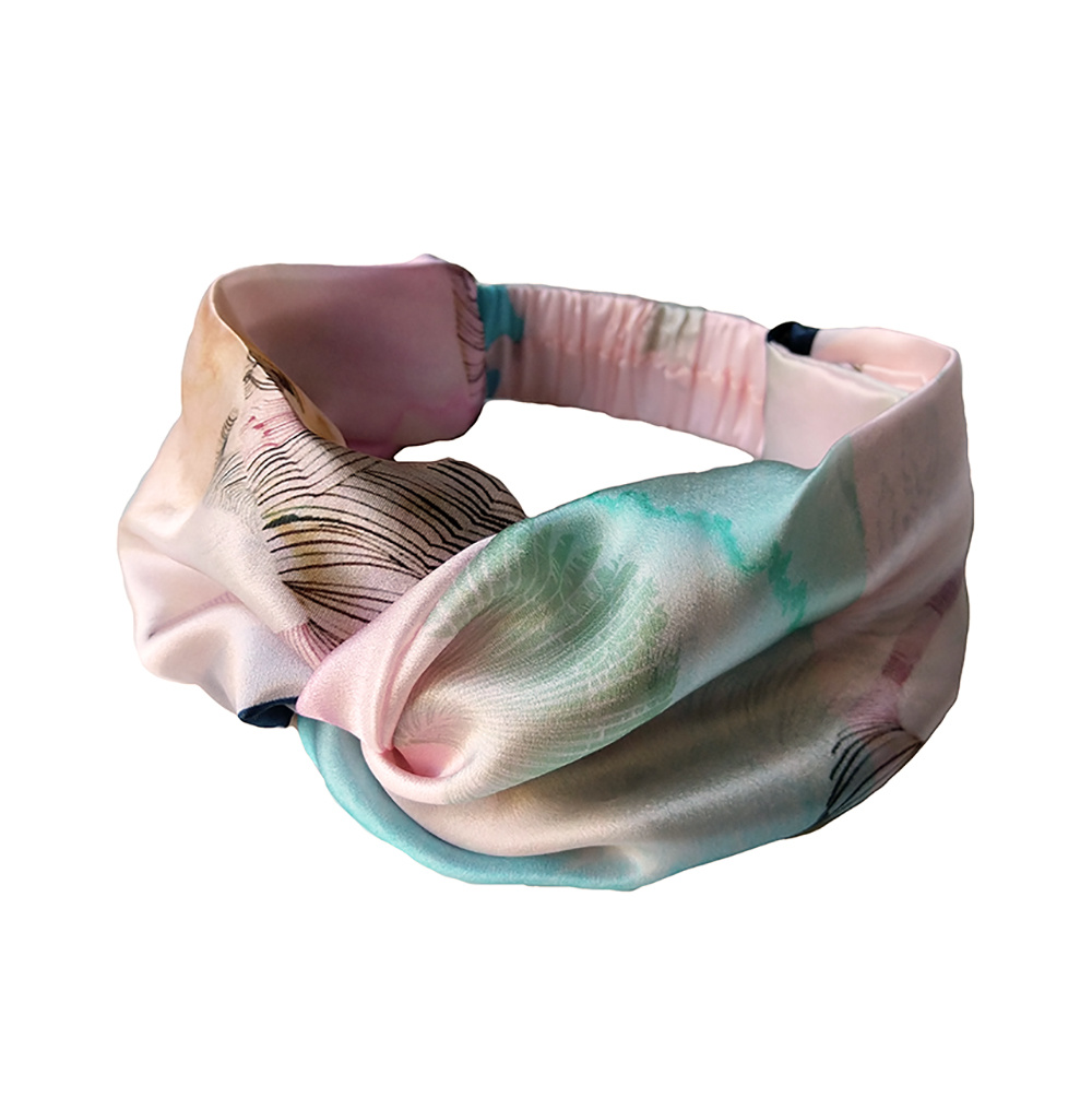 Silk twisted Headband Light Salmon
