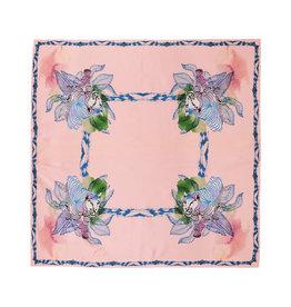 Marloekaki  Silk scarf Tigers Square Apricot