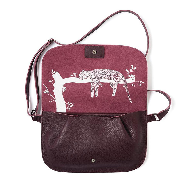 Bag Crossbody Lazy Boy Aubergine