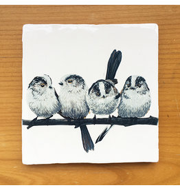 Myrte Vintage Tile Long-tailed Tit