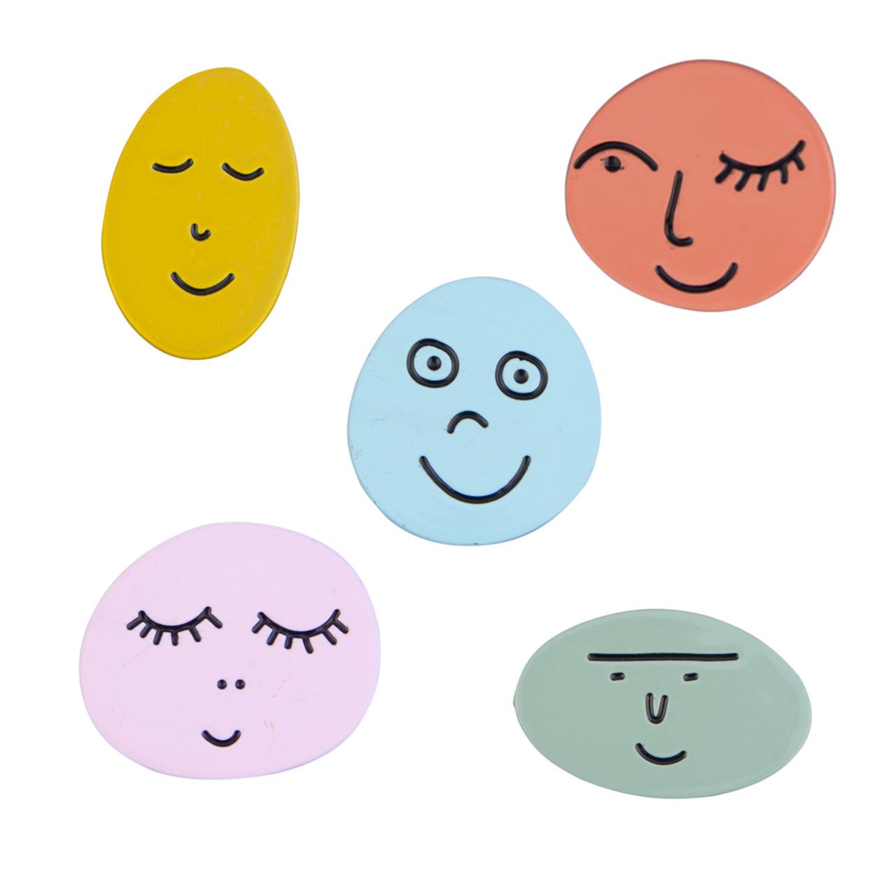 Pins-Faces-Assorted zum Verkauf pro Stück