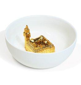 Hollandsche Waaren Schaal Vredespaleis Goud