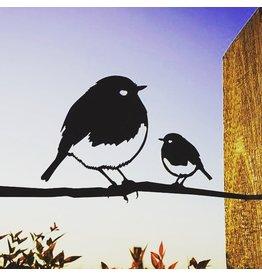 Metalbird Rotkehlchen Duo