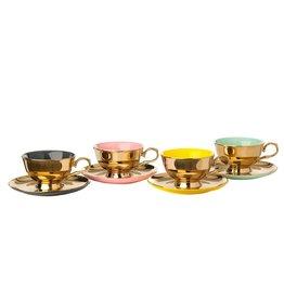 Pols Potten tea set legacy gold set / 4