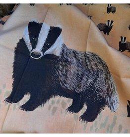 Myrte Tea towel Badger