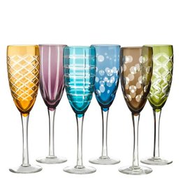 Pols Potten Champagneglas Multicolour set van 6