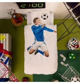 Snurk beddengoed Dekbedovertrek Voetballer Blauw 1 Persoons