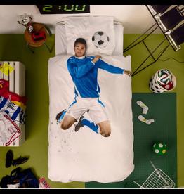 Snurk beddengoed Bettbezug Footballer Blue 1 Person