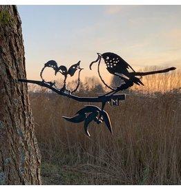 Metalbird Winterkoning met jongen