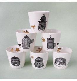 Pols Potten Freedom birds cup set van 6