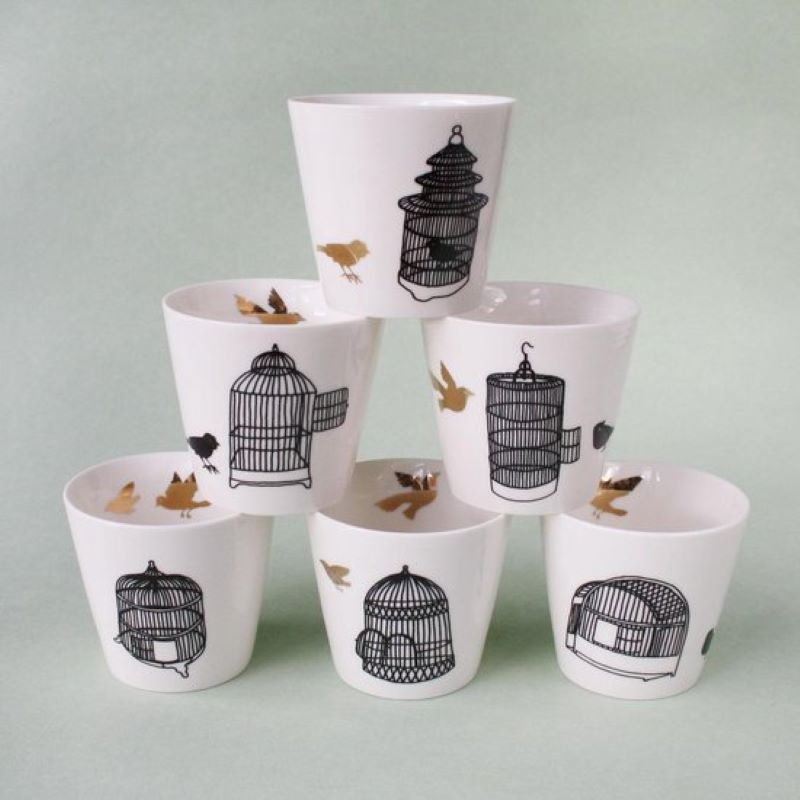 Freedom Birds cup set of 6