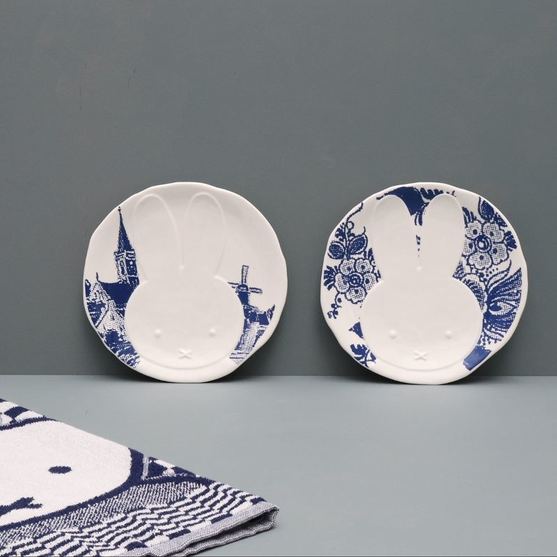 Plate Miffy, Delft Blue Flowers