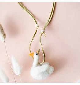 Global Affairs Swan Wool Felt Necklace