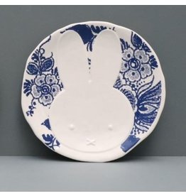 Hollandsche Waaren Teller Miffy, Delft Blue Flowers