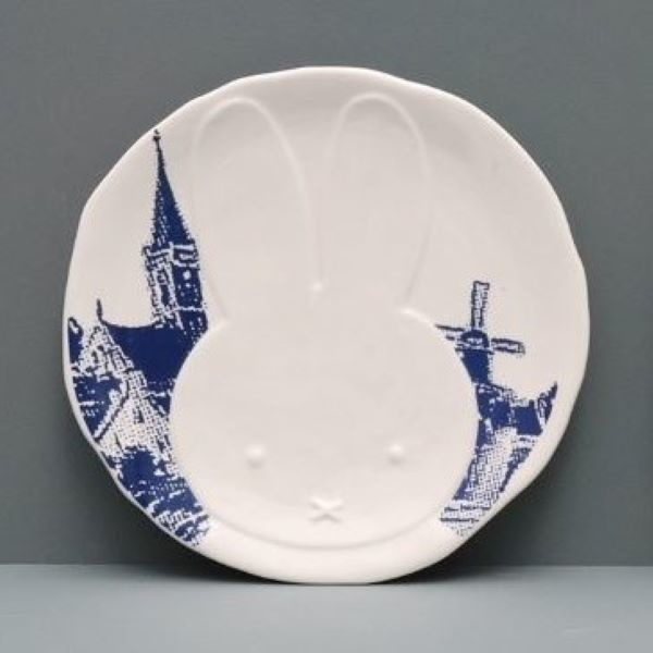 Platte Miffy, Delft Blue Windmühle