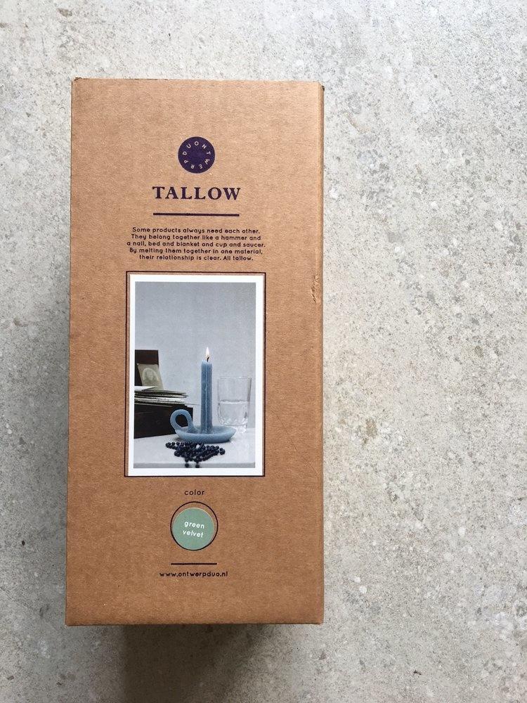 Kaars en Kandelaar Tallow  Olive