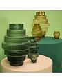 Vase Steps Green Small
