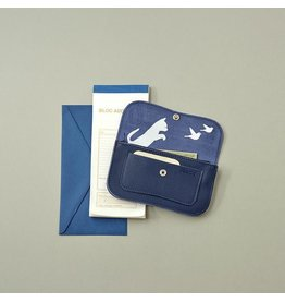 Keecie Wallet Cat Chase Small Ink Blue