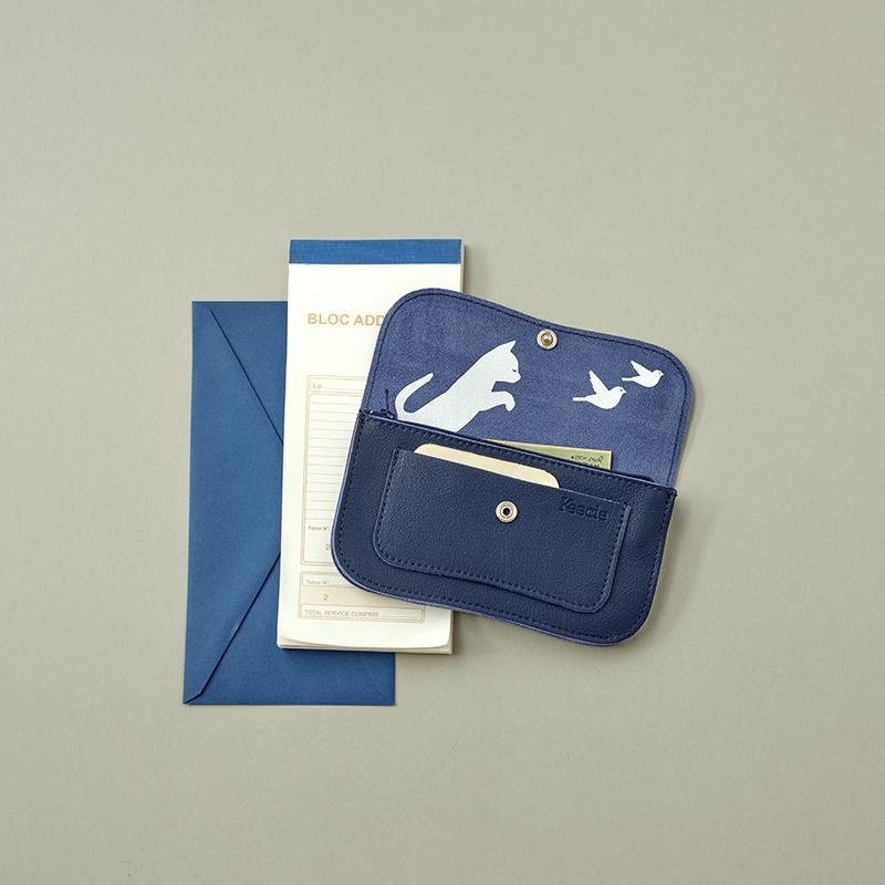 Brieftasche Cat Chase Small Ink Blue