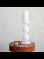 Kandelaar Bulb gerecycled glas 25 cm