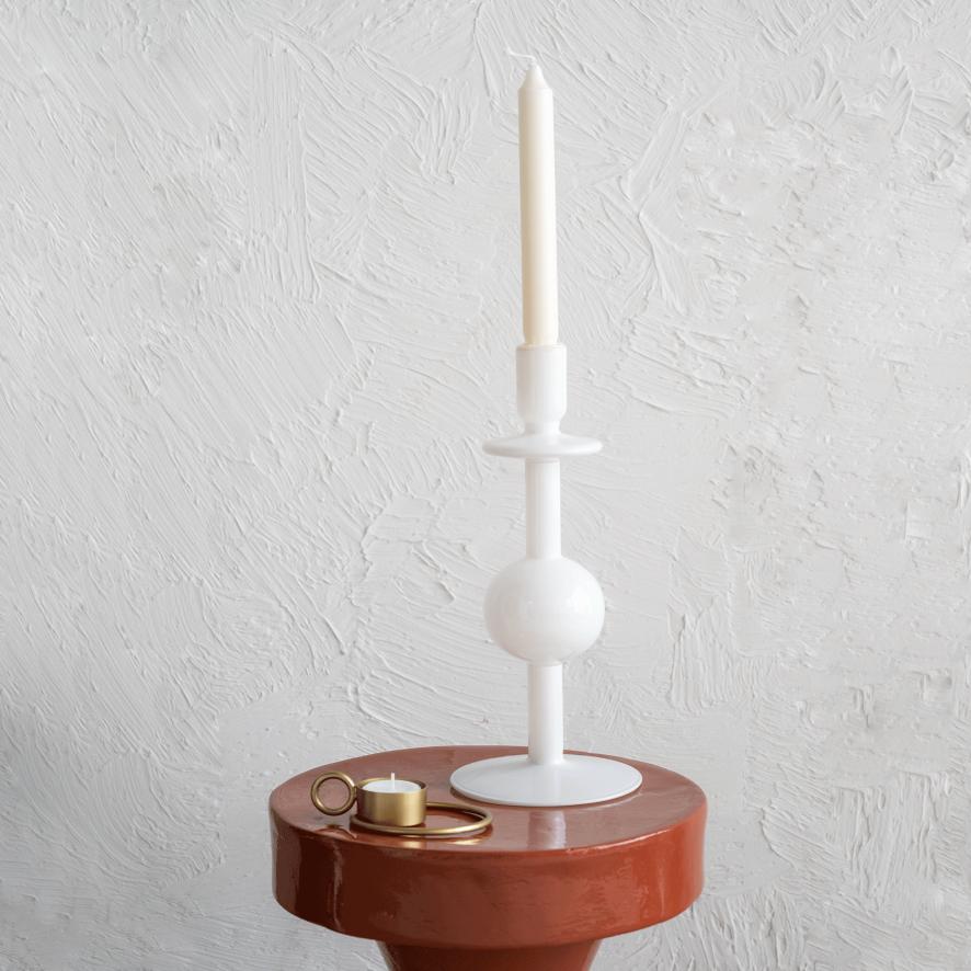Kandelaar Bulb gerecycled glas 30 cm