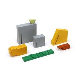 "Ikonic Toys Houten Gekleurde ""Wilde Dieren"" set/7"
