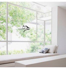 Metalbird Fensteraufkleber Spatzen