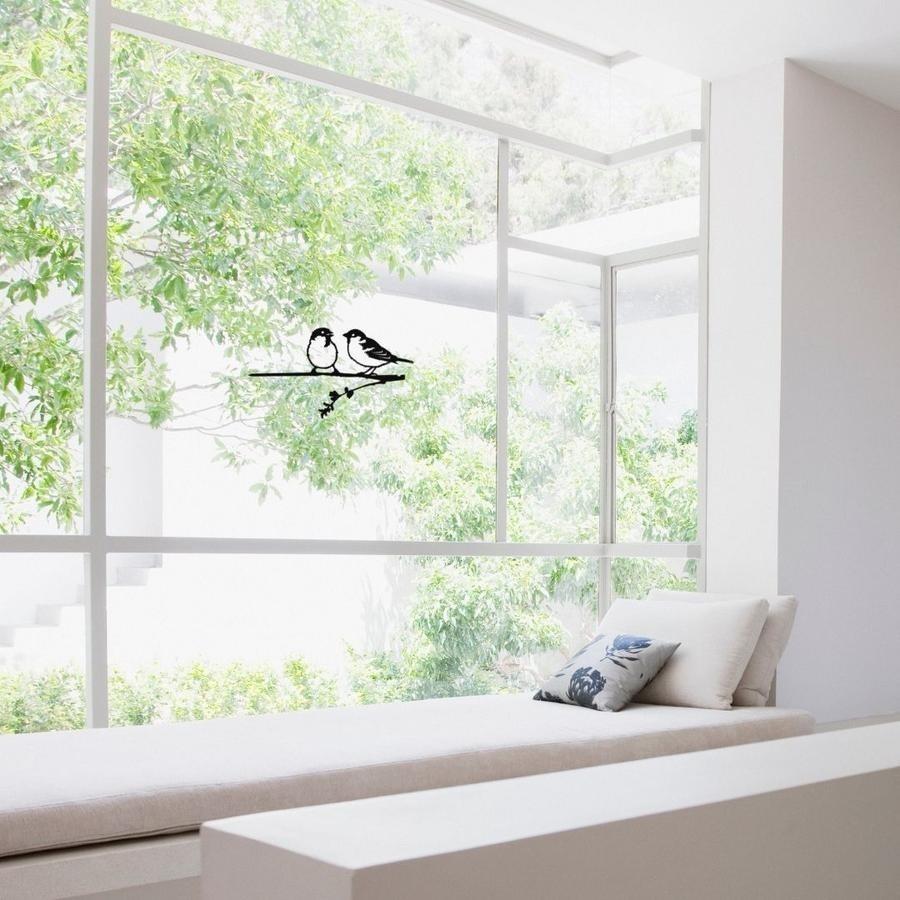 Fensteraufkleber Spatzen