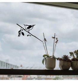 Metalbird Fenster & Glas Aufkleber Kleiber