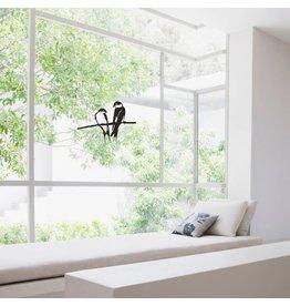 Metalbird Fenster & Glas Aufkleber Schwalben