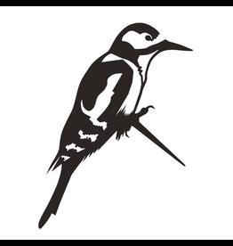 Metalbird Window & Glass Sticker Woodpecker