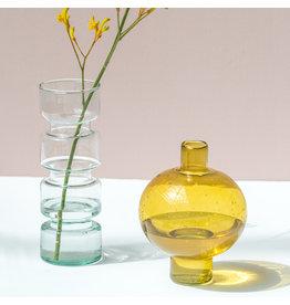 UNC Vase Amber Green