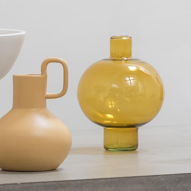 Vase Bernsteingrün