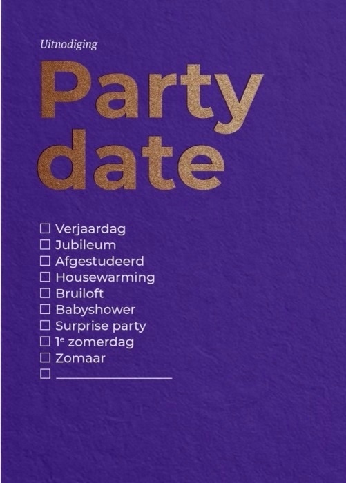 Party Date set 6