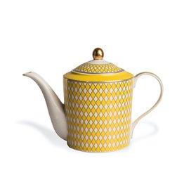 Pols Potten Teapot Chess Yellow