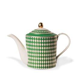 Pols Potten Teapot Chess Green