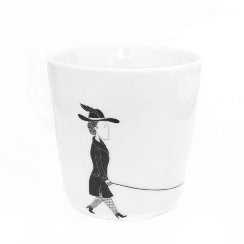 Koffiekopje Vrouw met Hond, Florentine