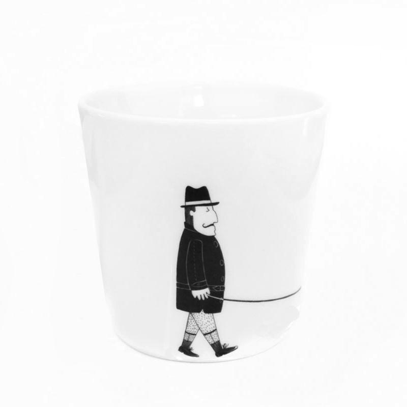 Kaffeetasse Mann mit Hund, Gustav