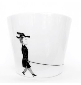 All Things We Like Flowerpot S Woman with dog, Florentine